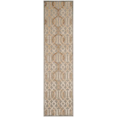 Van Wyck Brown Area Rug Rug Size: Runner 22 x 8