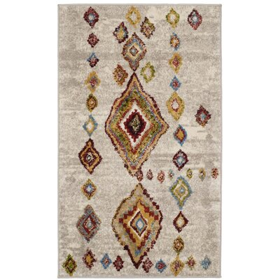 Lebanon Light Gray Area Rug Rug Size: Rectangle 51 x 76