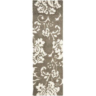 Flanery Dark Beige Area Rug Rug Size: Runner 23 x 11