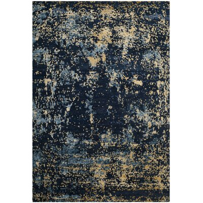 Glasgow Hand-Knotted Navy Area Rug