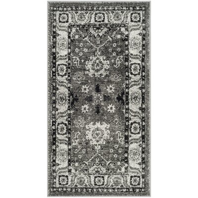 Logan Hamadan Gray Area Rug Rug Size: Rectangle 27 x 5