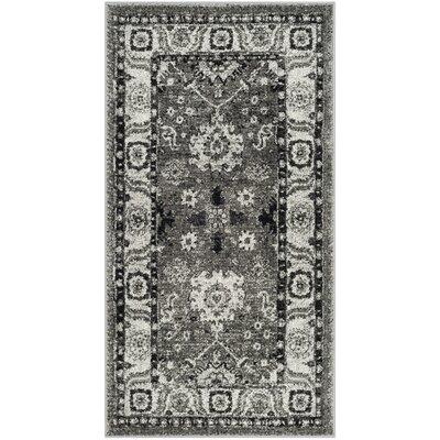 Logan Hamadan Gray Area Rug Rug Size: 27 x 5
