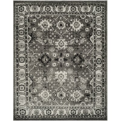 Logan Hamadan Gray Area Rug Rug Size: Rectangle 53 x 76