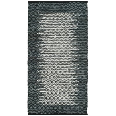 Logan Geometric Hand-Woven Light Gray Area Rug Rug Size: 5 x 8