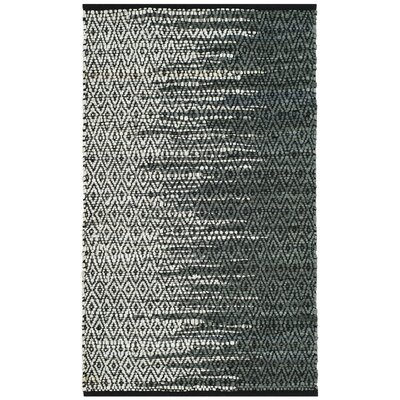 Logan Hand-Woven Light Gray Area Rug Rug Size: Round 4