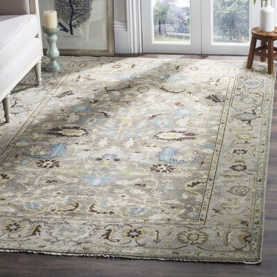 Armisen Hand-Knotted Gray Area Rug