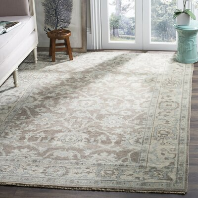 Amet Hand-Knotted Wool Gray Area Rug Rug Size: Rectangle 9 x 12