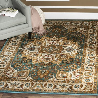 Lowe Teal Area Rug Rug Size: Rectangle 4 x 6
