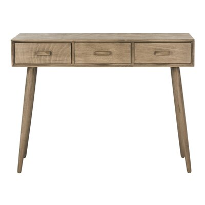 Cremeans 3 Drawer Console Table Finish: Brown