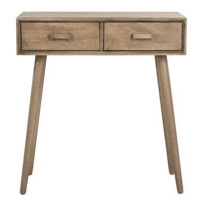 Crepeau 2 Drawer Console Table Finish: Brown
