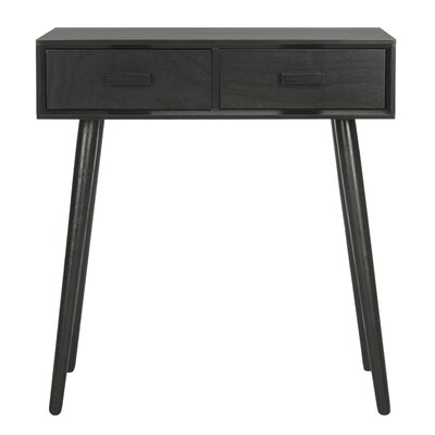 Crepeau 2 Drawer Console Table Finish: Black