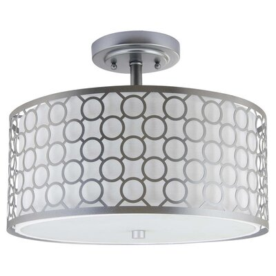 Torpoint Circle Trellis 3 Light Dia Semi Flush Mount