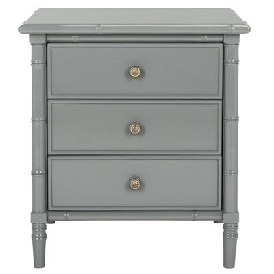 Aylin 3 Drawer Nightstand Color: Gray