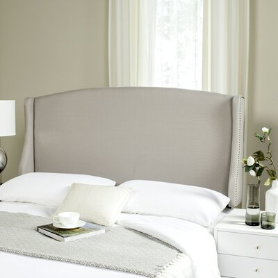 Hattiesburg Upholstered Wingback Headboard Size: Queen, Color: Taupe, Upholstery: Linen