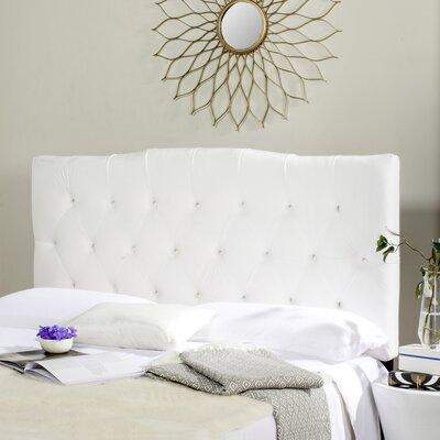 Axel King Upholstered Panel Headboard Upholstery: White