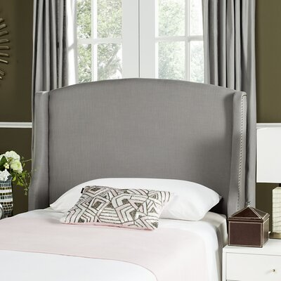 Hattiesburg Upholstered Wingback Headboard Size: Twin, Color: Light Gray, Upholstery: Polyester/Polyester Blend