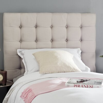 Lamar Upholstered Panel Headboard Size: Twin, Upholstery: Taupe