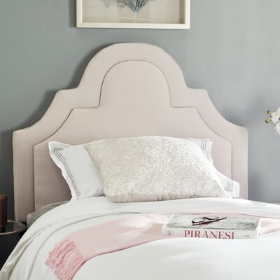 Kerstin Arched Upholstered Panel Headboard Size: King, Color: Taupe, Upholstery: Linen
