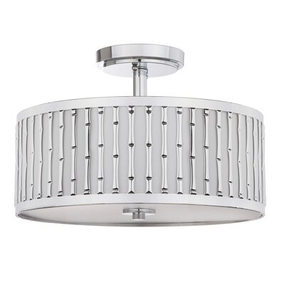 Bromford Bamboo 3-Light Semi Flush Mount