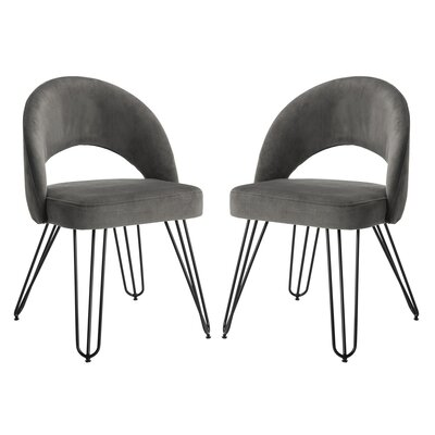 Malcom Side Chair Color: Dark Gray