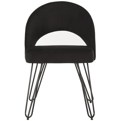 Malcom Side Chair Color: Black
