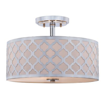 Maynard 3-Light LED Integrated Semi Flush Mount Fixture Finish: Off White