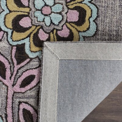 Warrington Hand-Tufted Gray Area Rug Rug Size: Rectangle 8 x 10