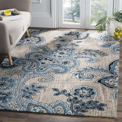 Warrington Hand-Tufted Gray/Blue Area Rug Rug Size: Rectangle 4 x 6