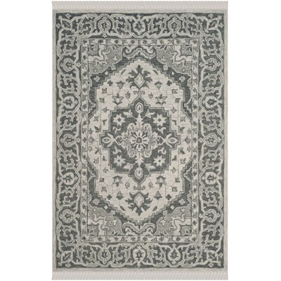 Carman Hand-Tufted Wool Gray Area Rug Rug Size: Rectangle 5 x 8