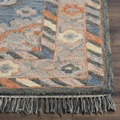 Chancellor Hand-Tufted Wool Blue Area Rug Rug Size: Square 7