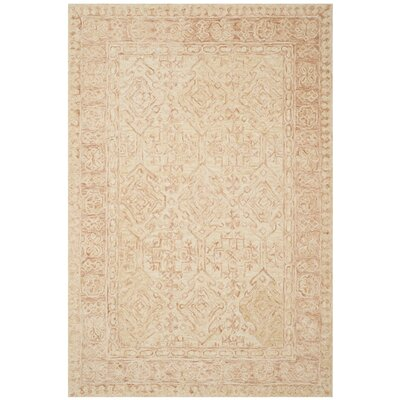 Chancellor Hand-Tufted Wool Ivory Area Rug Rug Size: Rectangle 5 x 8
