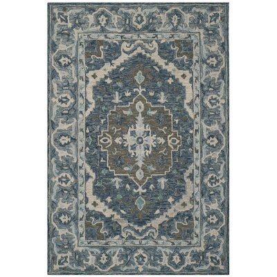 Chancellor Hand-Tufted Wool Dark Blue Area Rug Rug Size: Rectangle 5 x 8