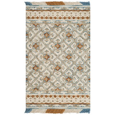Bradwood Hand-Tufted Ivory Area Rug Rug Size: Rectangle 5 x 8