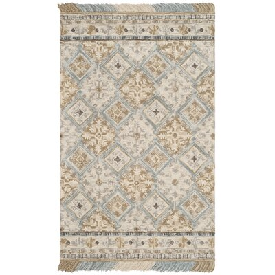 Bradwood Hand-Tufted Beige Area Rug Rug Size: Rectangle 5 x 8