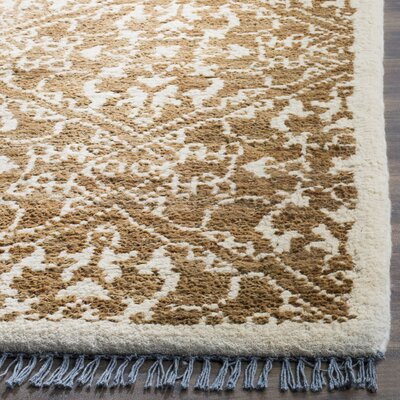 Elford Hand-Woven Brown Area Rug Rug Size: 5 x 8
