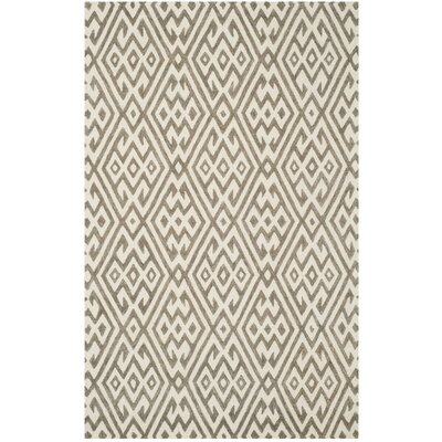 Sloan Hand-Tufted Wool Ivory Area Rug Rug Size: Rectangle 5 x 8