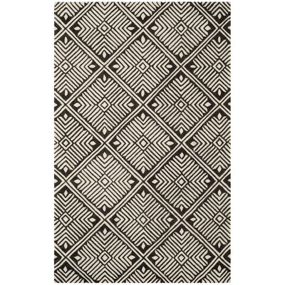 Sloan Hand-Tufted Wool Ivory Area Rug Rug Size: Rectangle 4 x 6