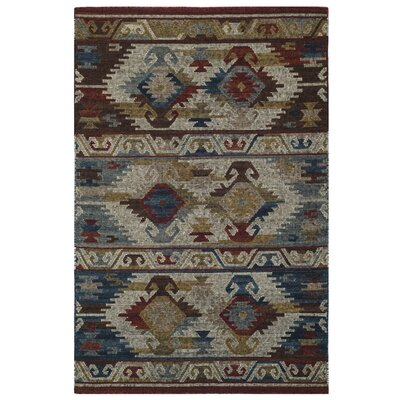 Elan Hand-Woven Blue Area Rug Rug Size: Rectangle 4 x 6