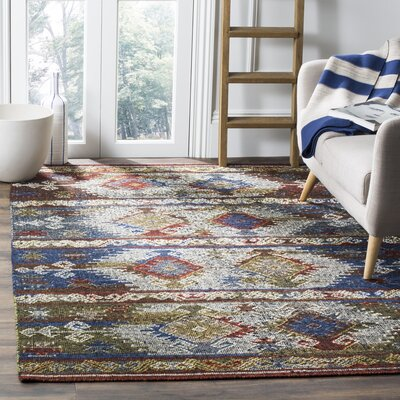 Elan Hand-Woven Blue Area Rug Rug Size: Rectangle 8 x 10