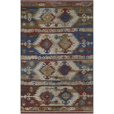 Elan Hand-Woven Blue Area Rug Rug Size: Rectangle 5 x 8