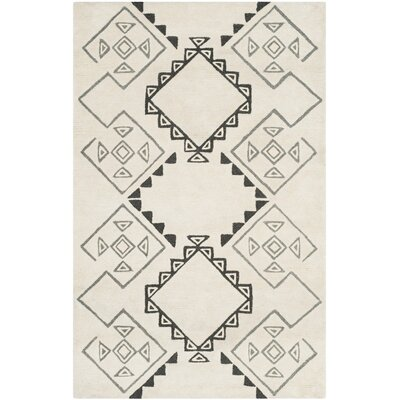 Powell Hand-Tufted Ivory Area Rug Rug Size: Runner 23 x 8