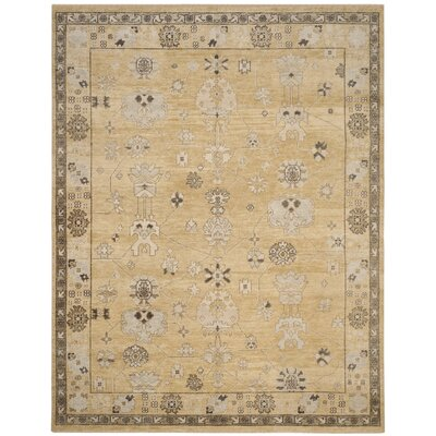 Elington Hand-Knotted Light Gold Area Rug Rug Size: Rectangle 8 x 10