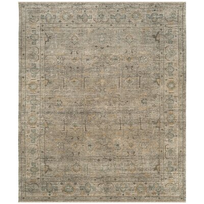 Kline Hand-Knotted Wool Linen Area Rug Rug Size: Rectangle 8 x 10