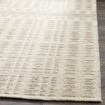 Bennett Hand-Woven Wool Ivory Area Rug Rug Size: Rectangle 8 x 10