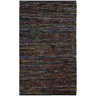 Shatzer Hand-Woven Black Area Rug Rug Size: Rectangle 3 x  5