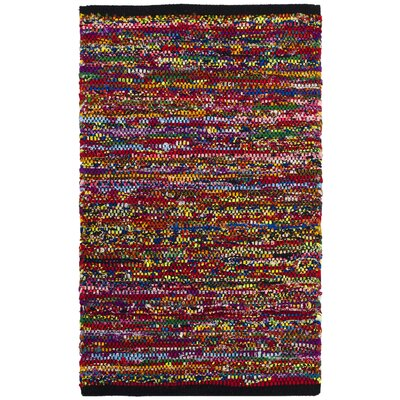 Shatzer Hand-Woven Cotton Fuchsia Area Rug Rug Size: Rectangle 5' x 8'