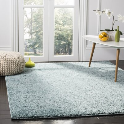 Helsel Aqua Area Rug Rug Size: Rectangle 2 x 8