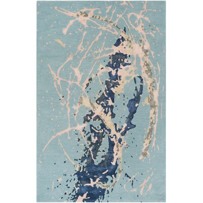 Schaub Hand-Tufted Blue Area Rug Rug Size: Rectangle 5' x 8'