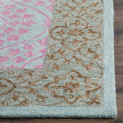 Tomo Hand-Hooked Taupe Area Rug Rug Size: Rectangle 5 x 8