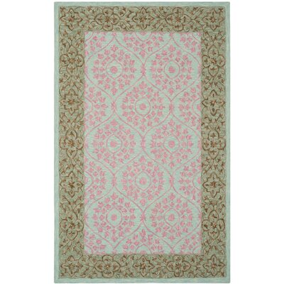 Tomo Hand-Hooked Taupe Area Rug Rug Size: Rectangle 4 x 6